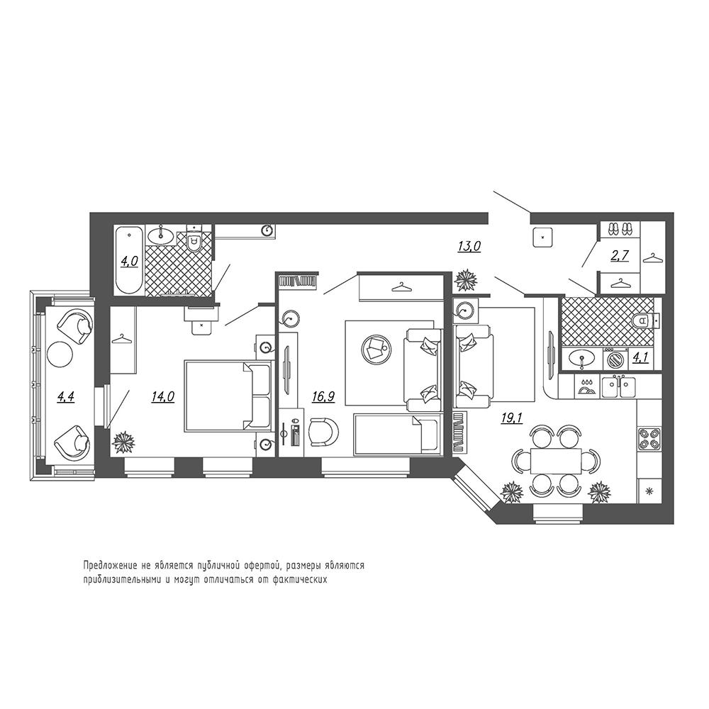 Купить 2-комн. квартиру от застройщика в СПб - Санкт-Петербург | Цены на квартиры без посредников ЛенСпецСМУ