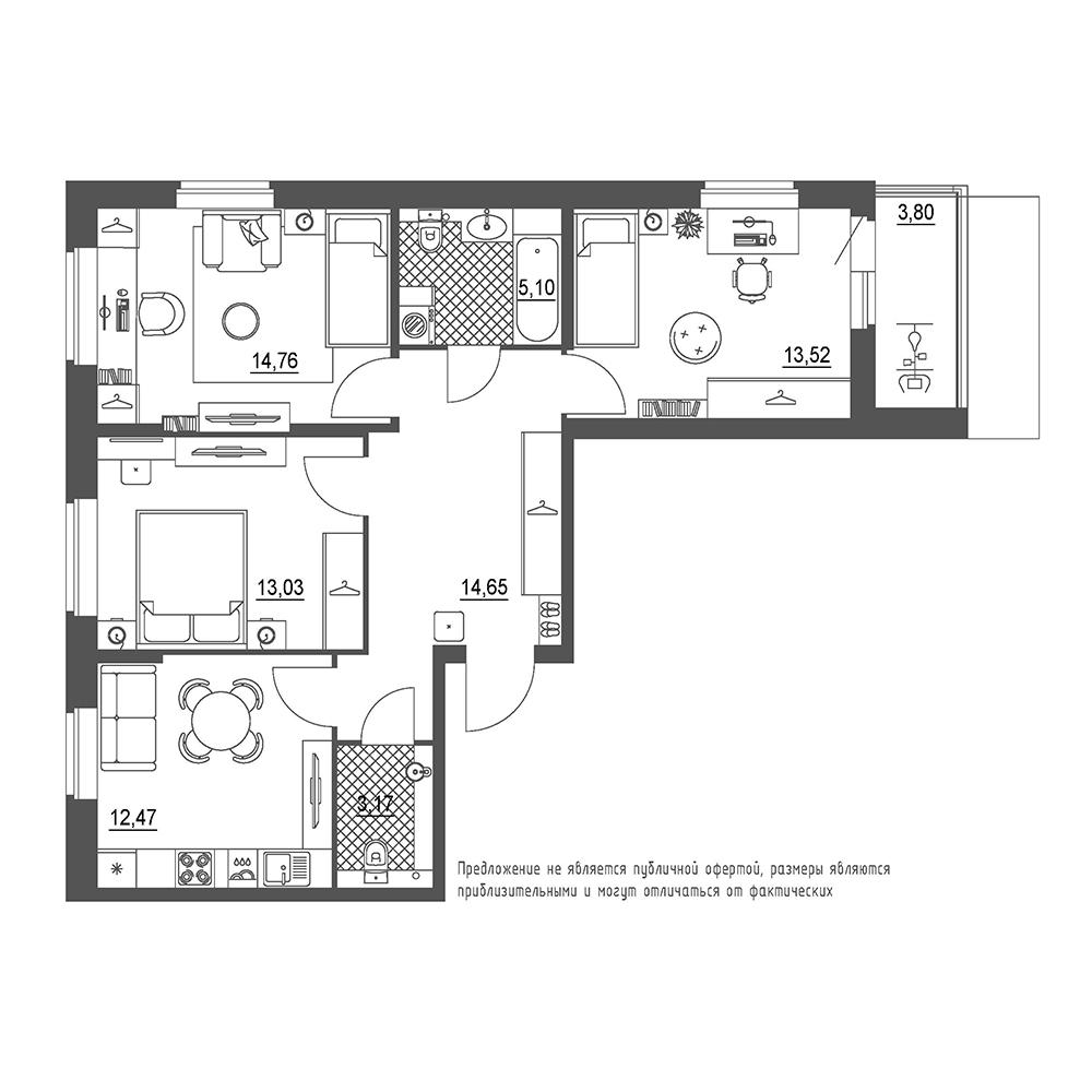 Купить 3-комн. квартиру от застройщика в СПб - Санкт-Петербург | Цены на квартиры без посредников ЛенСпецСМУ