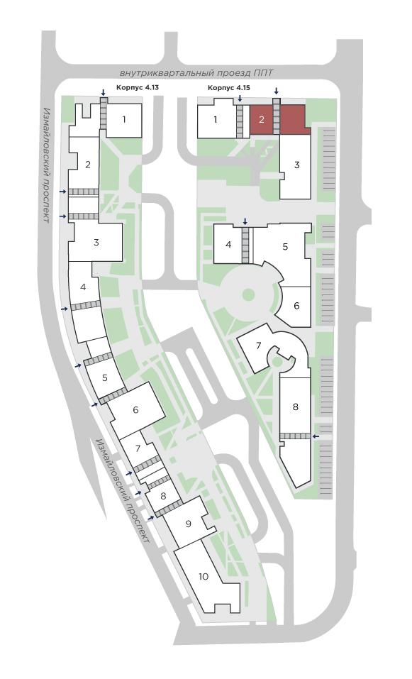 планировка трехкомнатной квартиры в ЖК Галактика Pro №45