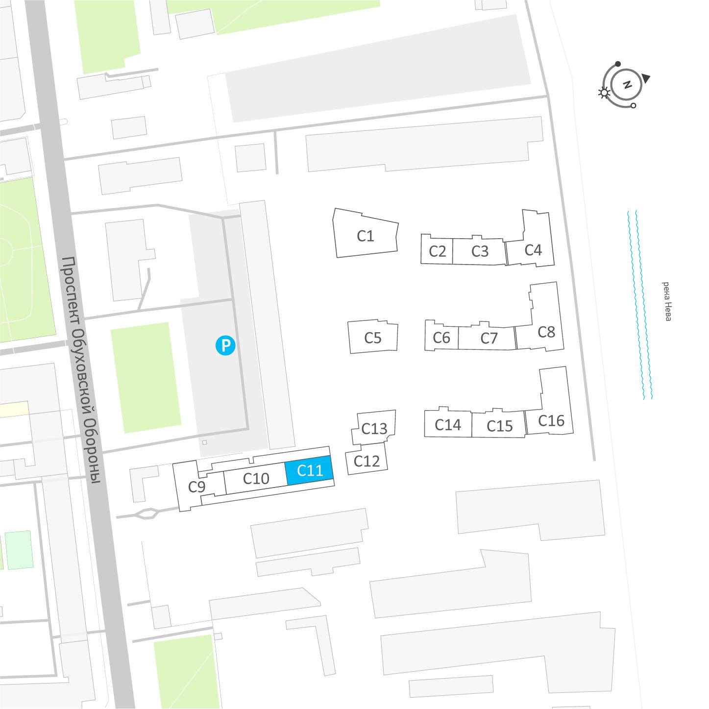 планировка квартиры студии в ЖК «Эталон на Неве» №204