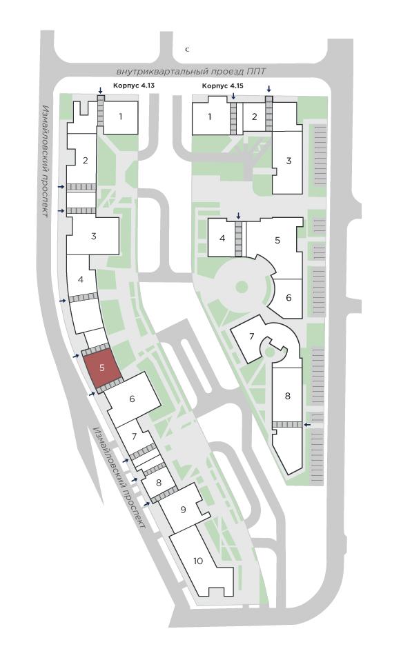 планировка трехкомнатной квартиры в ЖК Галактика Pro №225