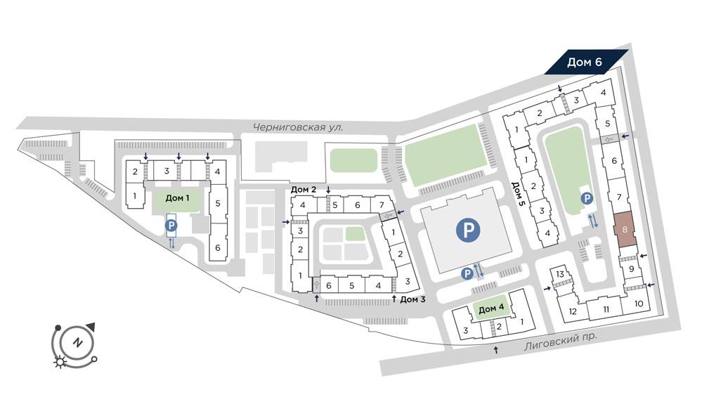 планировка квартиры студии в Квартал Che №459