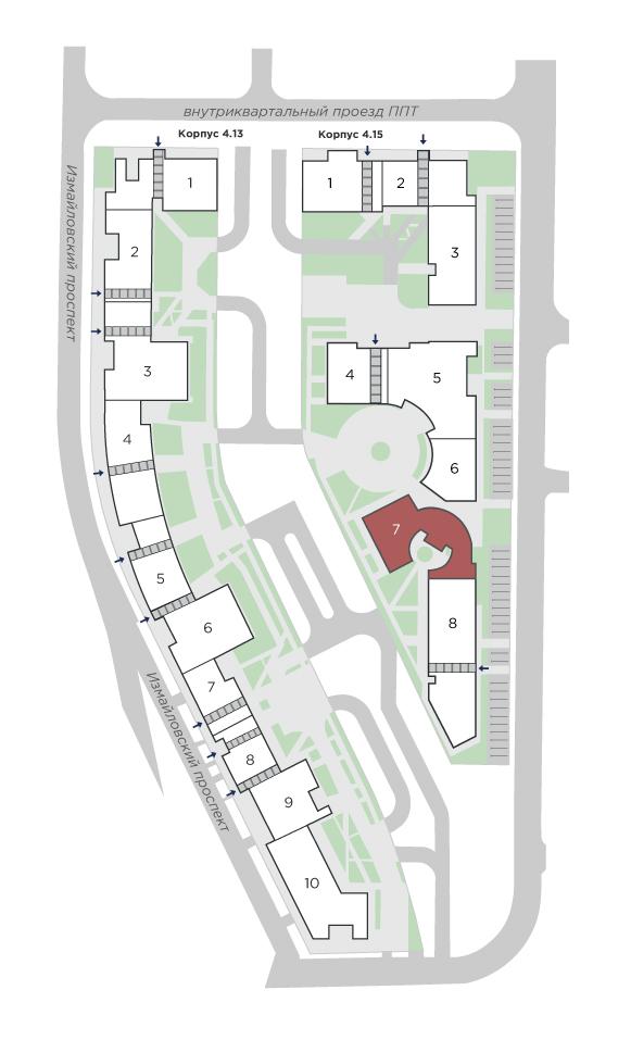 планировка двухкомнатной квартиры в ЖК Галактика Pro №273