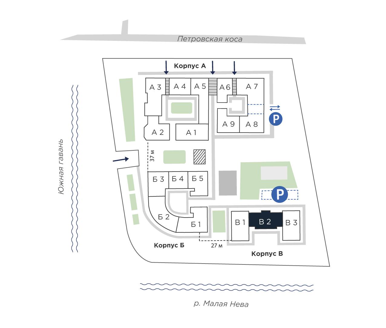 планировка многокомнатной квартиры в ЖК «Петровская Доминанта» №348