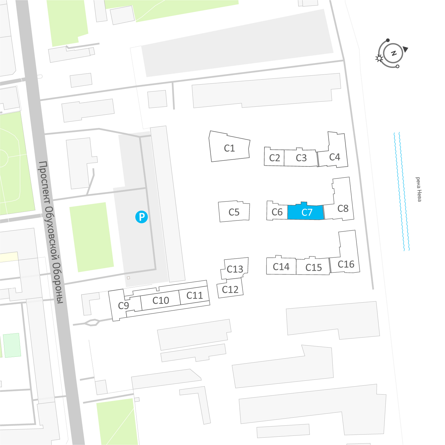 планировка трехкомнатной квартиры в ЖК «Эталон на Неве» №547