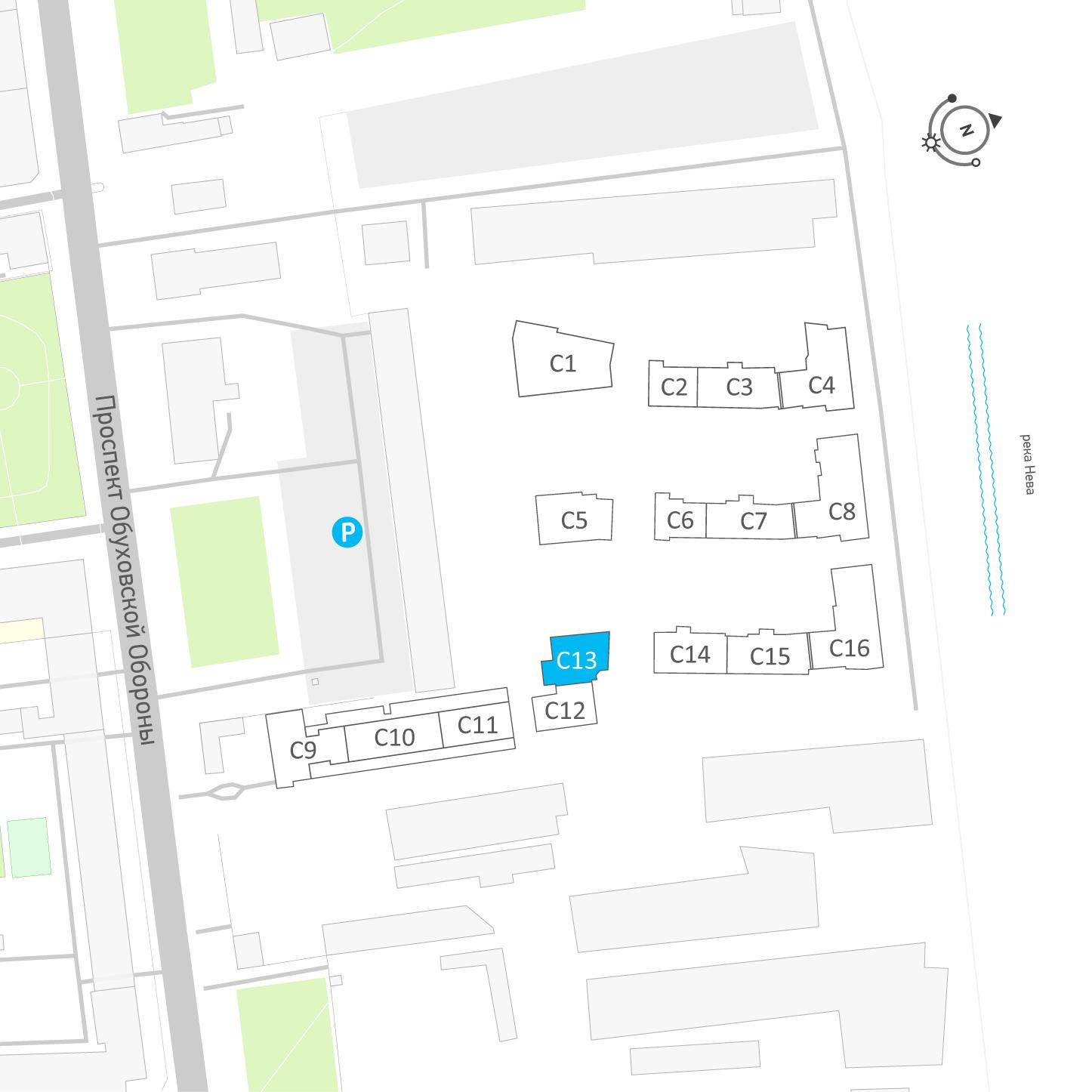 планировка однокомнатной квартиры в ЖК «Эталон на Неве» №251