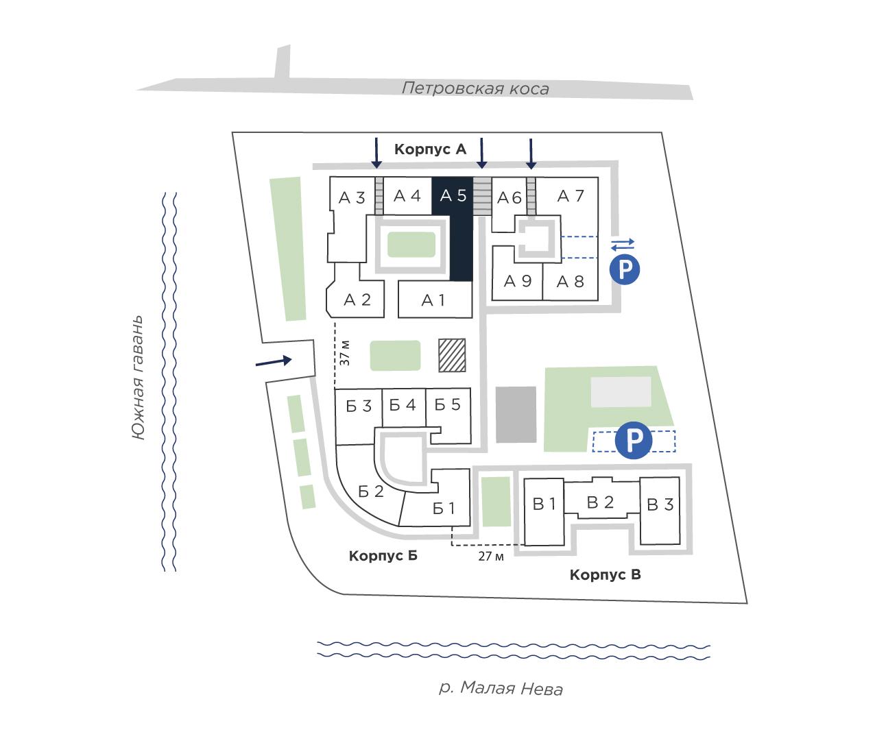 планировка четырехкомнатной квартиры в ЖК «Петровская Доминанта» №113