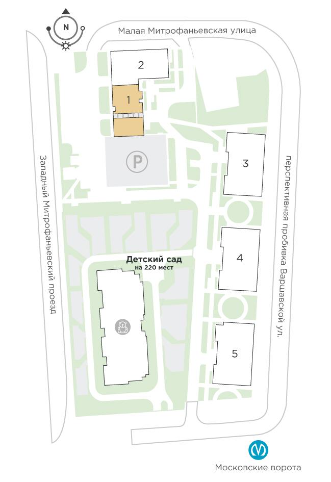 планировка трехкомнатной квартиры в ЖК «Галактика. Премиум» №64