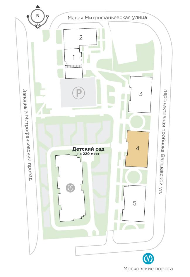 планировка трехкомнатной квартиры в ЖК «Галактика. Премиум» №294