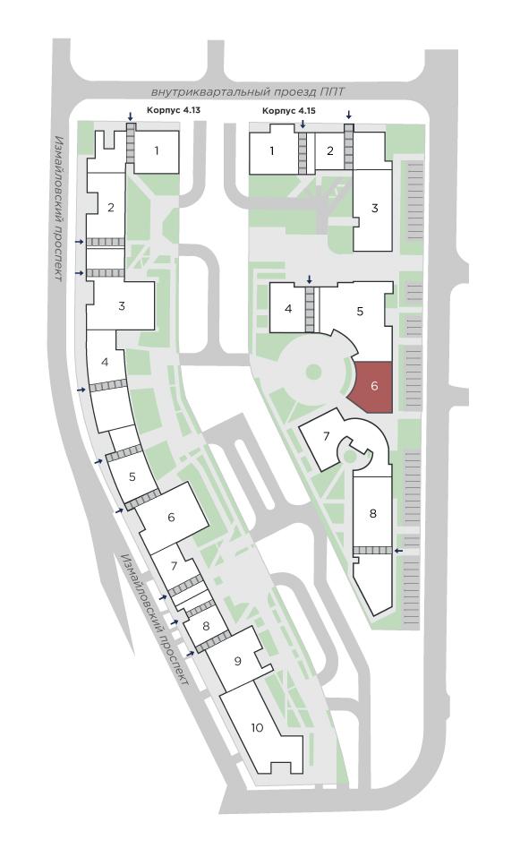 планировка двухкомнатной квартиры в ЖК Галактика Pro №207