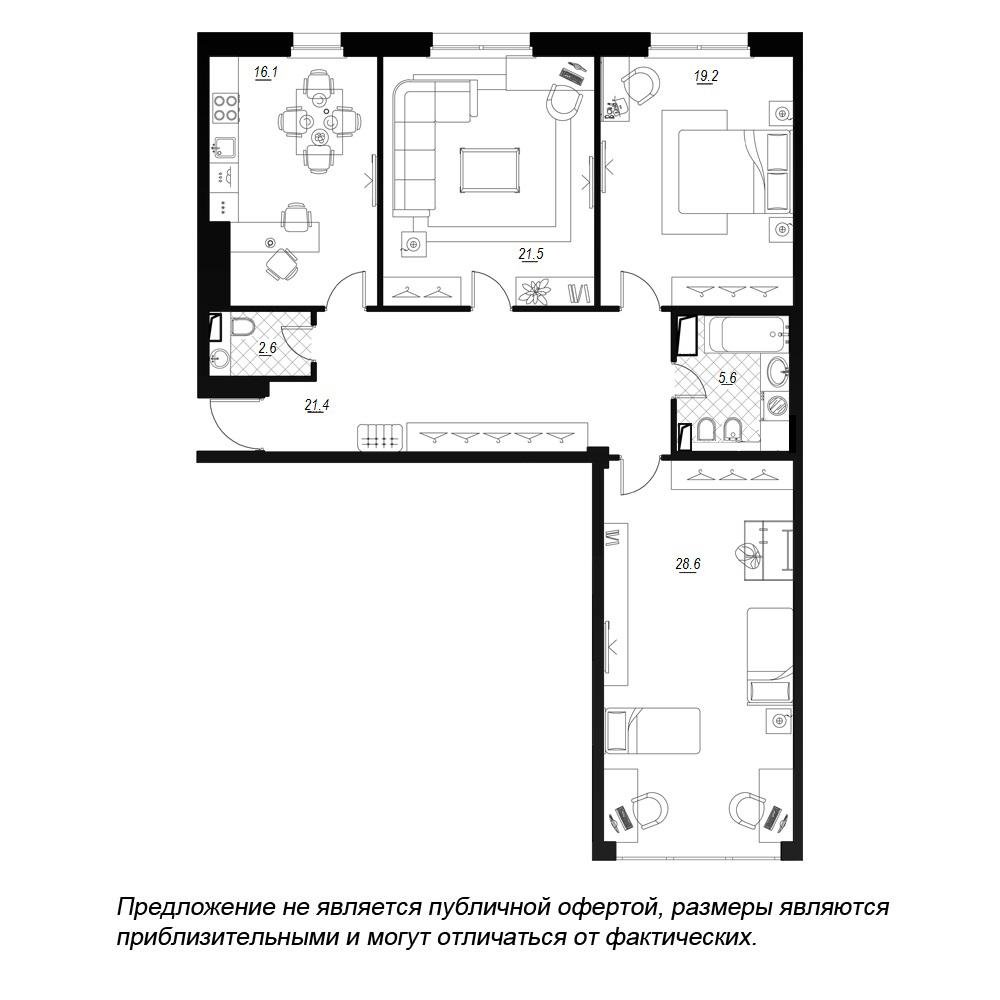 планировка трехкомнатной квартиры в  №31
