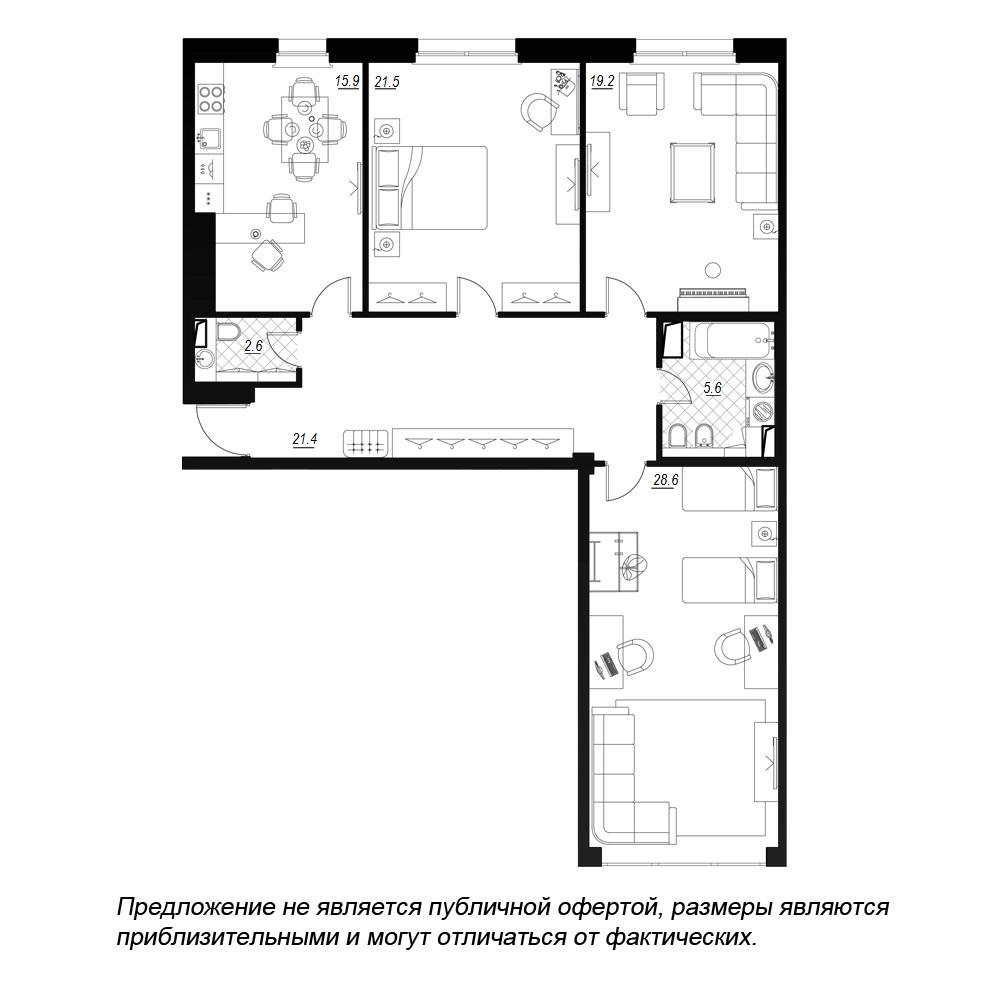 планировка трехкомнатной квартиры в  №47