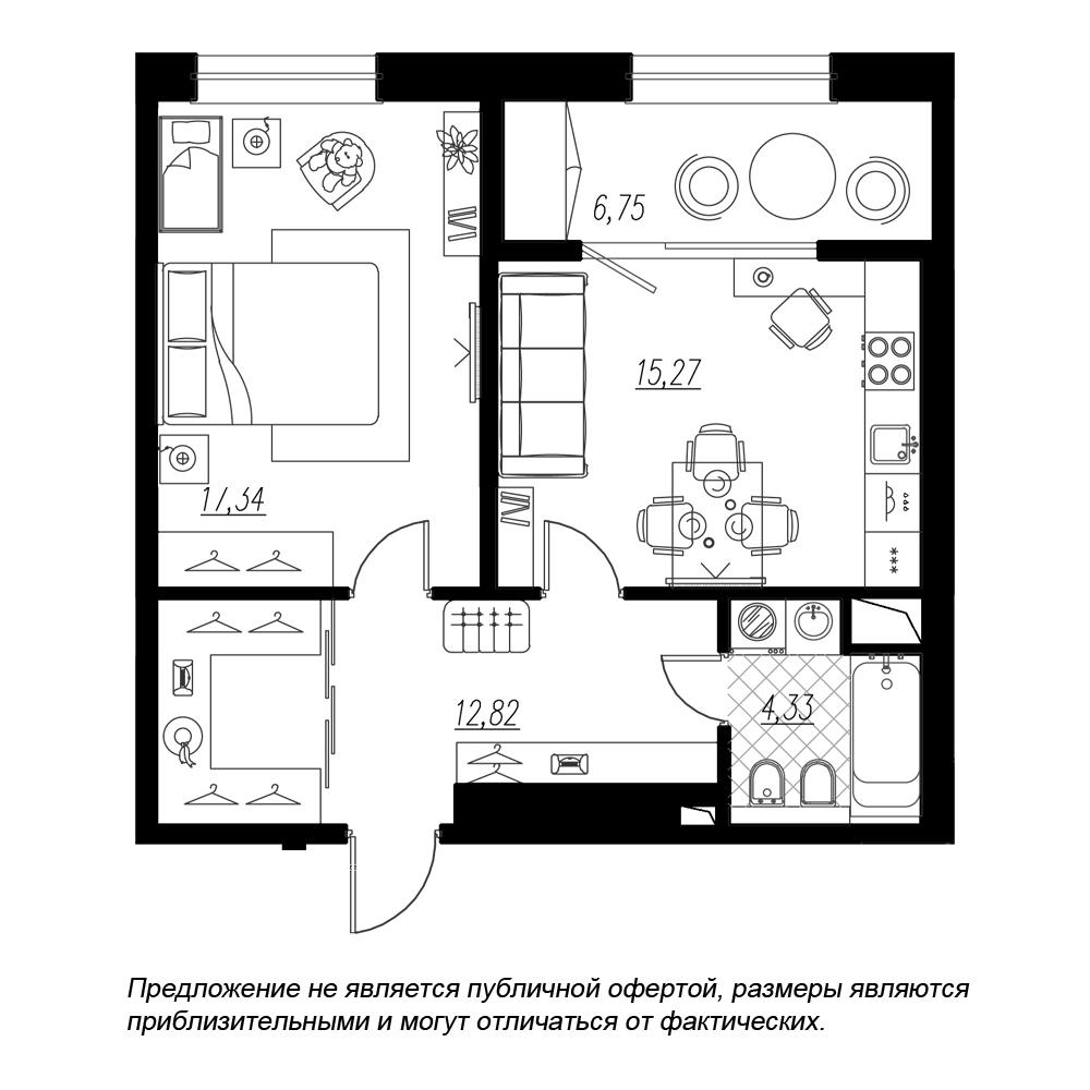 планировка однокомнатной квартиры в  №282