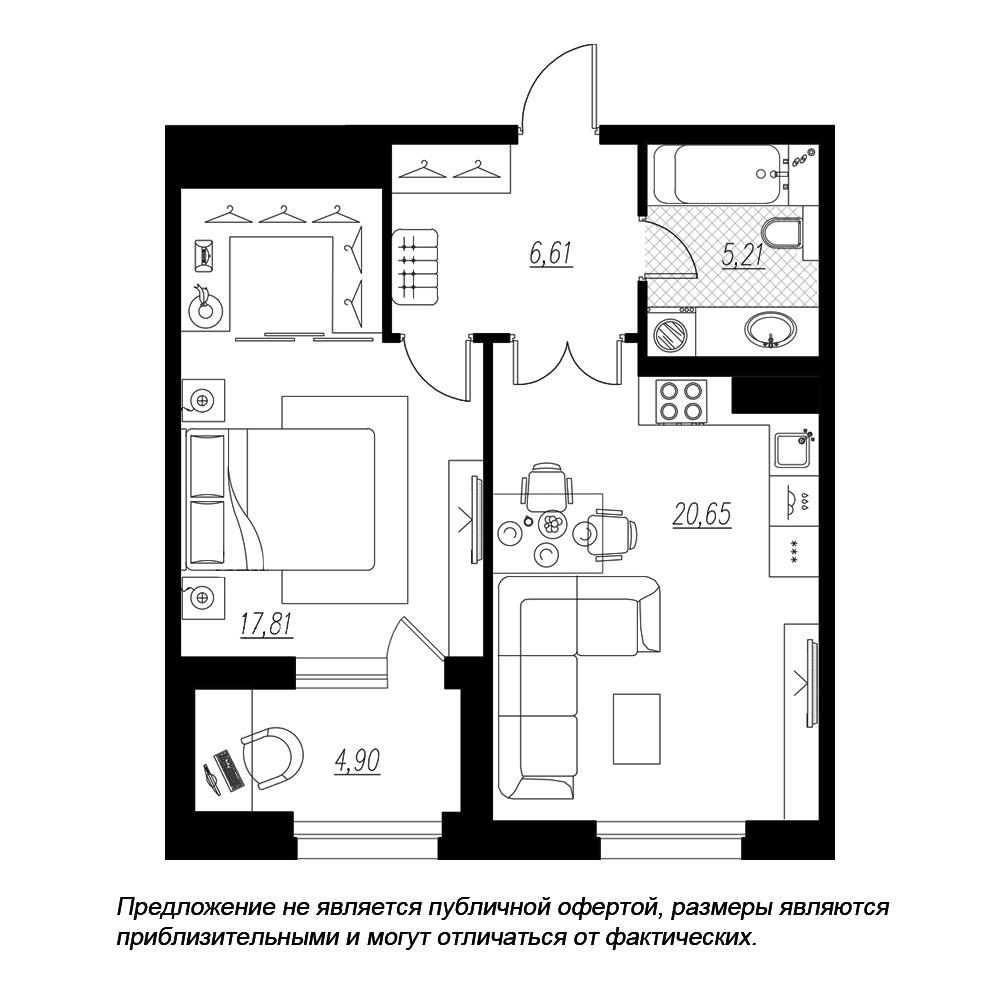 планировка однокомнатной квартиры в  №7