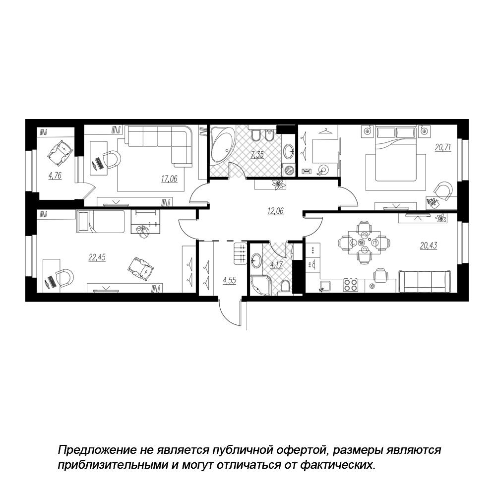планировка трехкомнатной квартиры в  №226