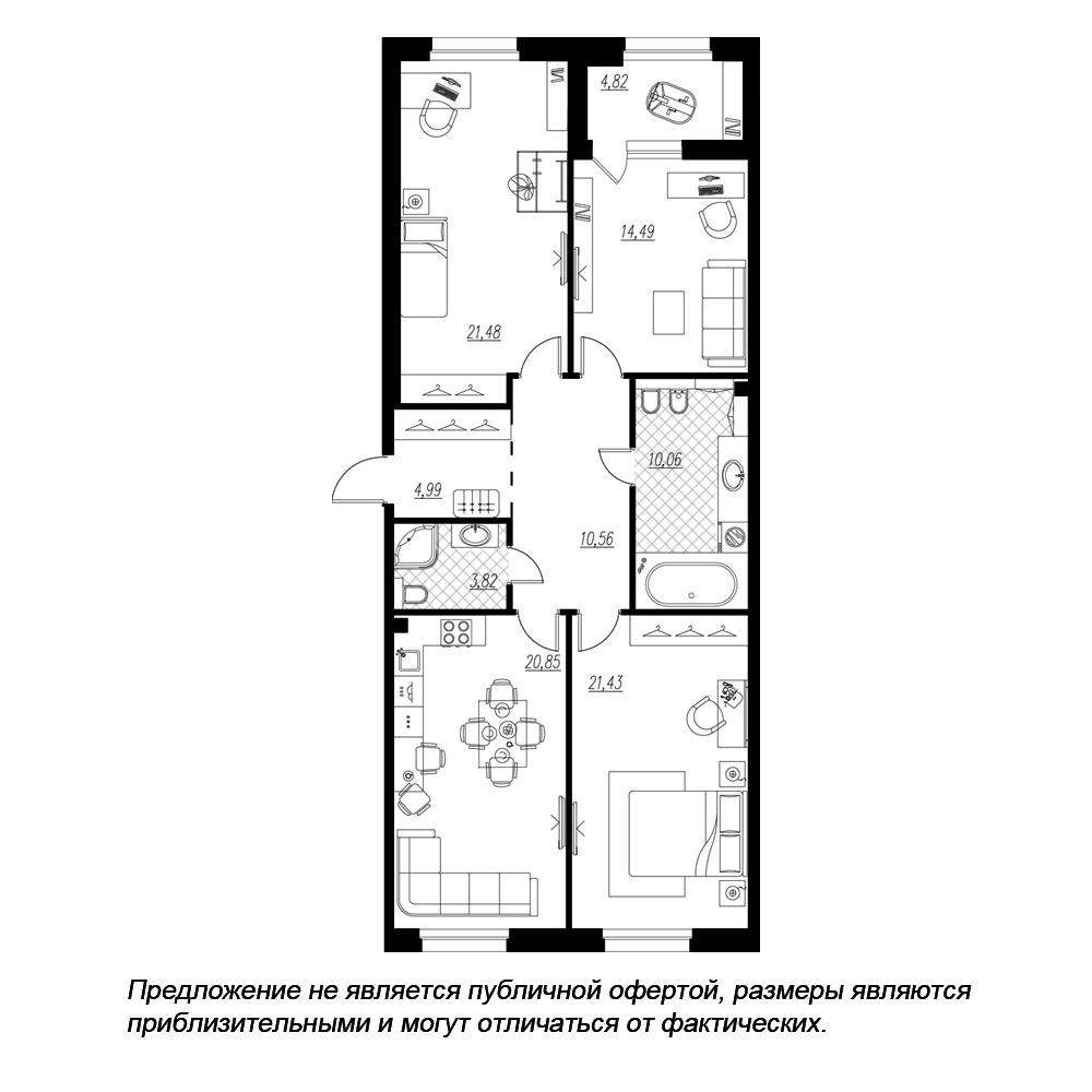 планировка трехкомнатной квартиры в  №238