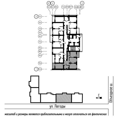 планировка трехкомнатной квартиры в ЖК «Охта Хаус» №240