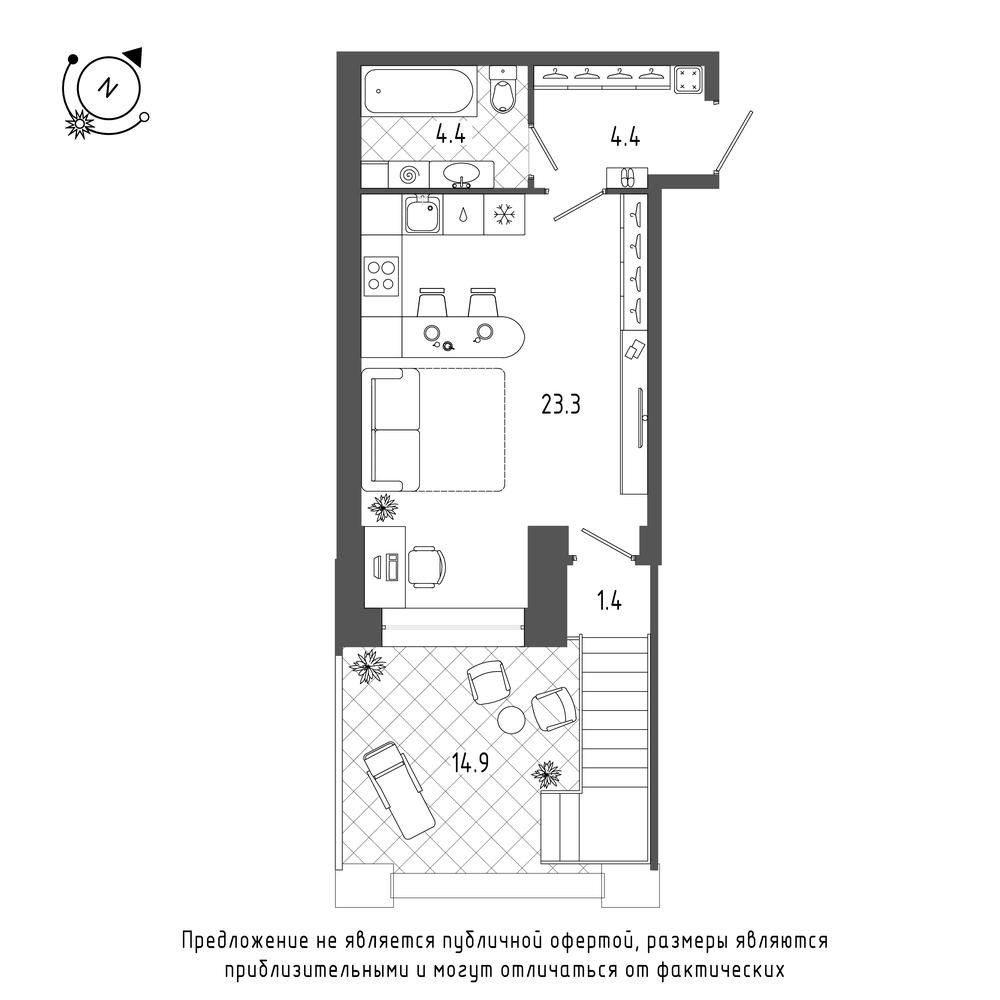 планировка квартиры студии в  №128