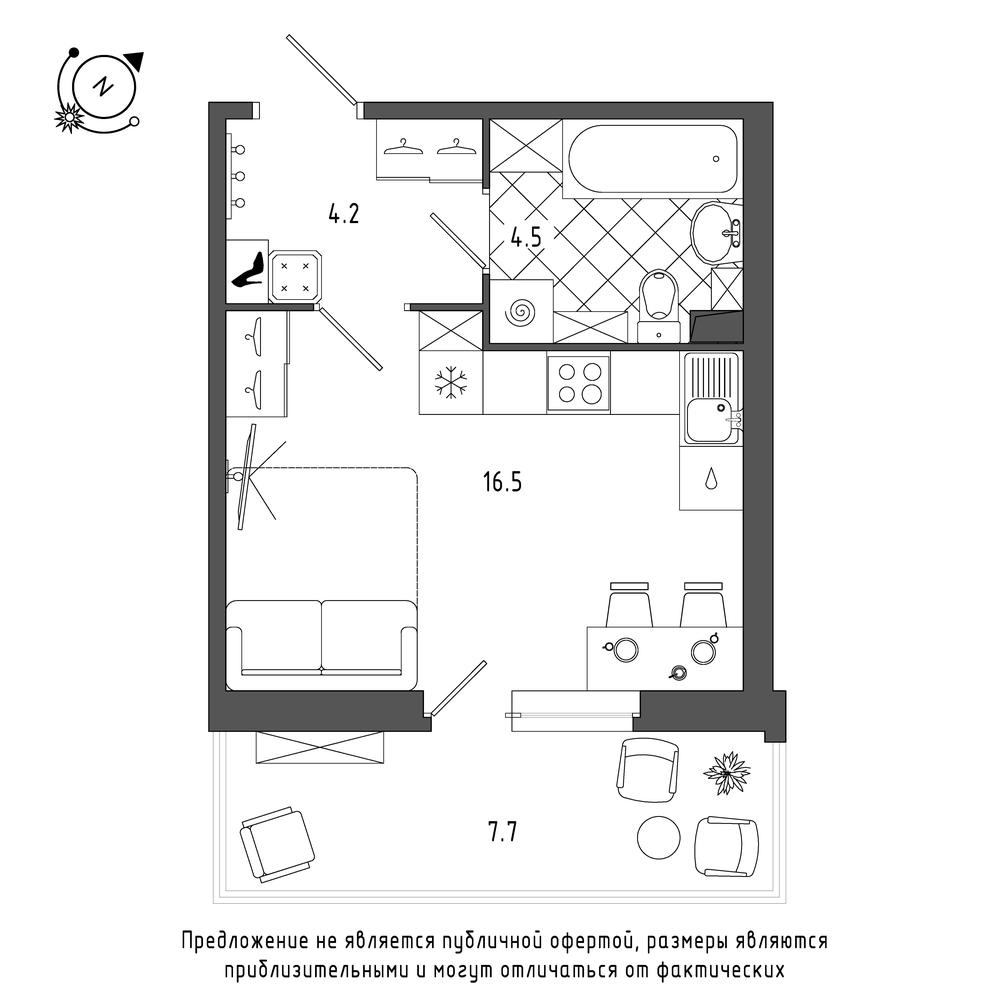 планировка квартиры студии в  №93