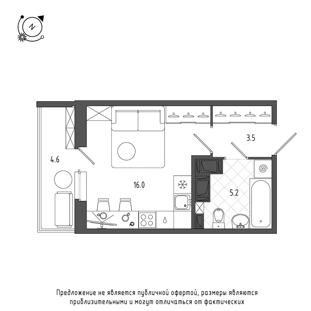 планировка квартиры студии в  №335