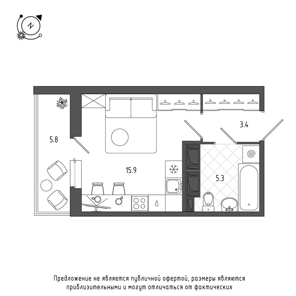 планировка квартиры студии в  №388