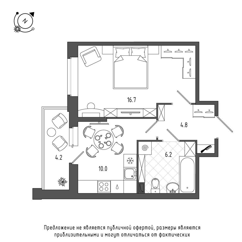 планировка однокомнатной квартиры в  №449