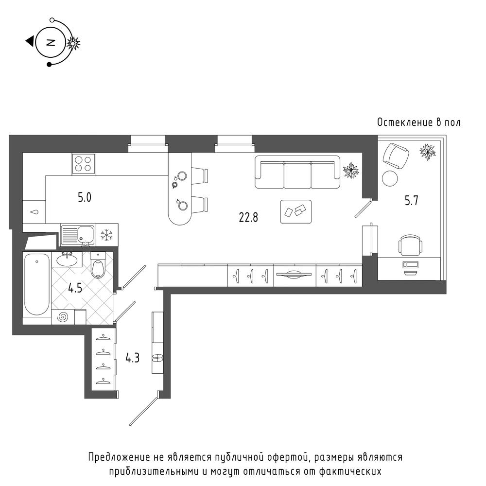 планировка квартиры студии в  №608