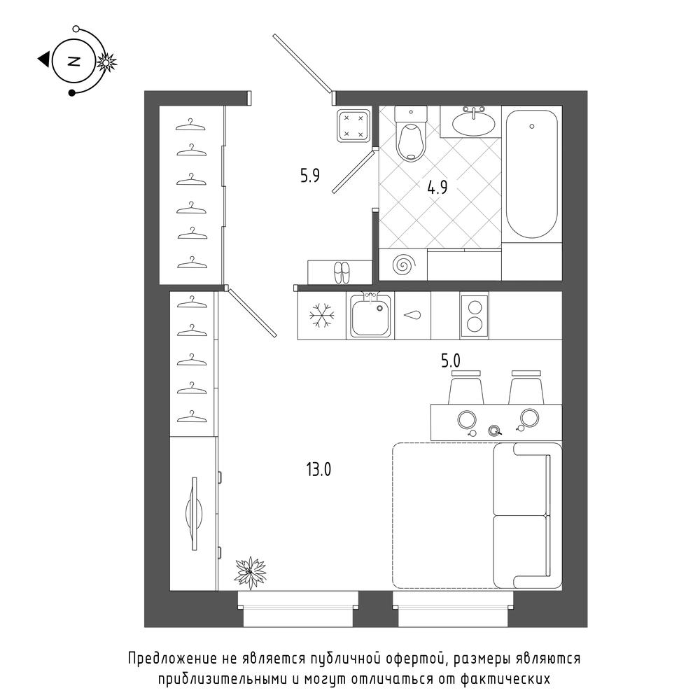 планировка квартиры студии в  №338